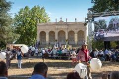 Pontchateau, Frankrijk - September 11, 2016: Viering van 300 ann Royalty-vrije Stock Foto