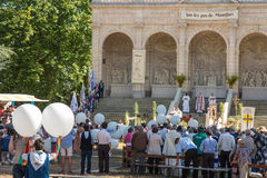 Pontchateau Frankrike - September 11, 2016: Beröm av 300 ann Arkivfoton