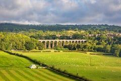Pontcysyllte akvedukt i norr Wales Arkivbild