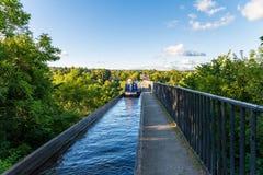 Pontcysyllte akvedukt, Wrexham, Wales, UK arkivfoton