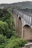 Pontcysyllte-Aquädukt in Wales stockfotografie
