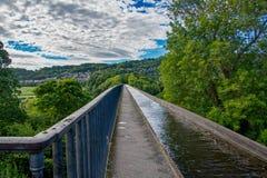 Pontcysyllte Aquaduct auf dem Llangollen-Kanal lizenzfreie stockbilder