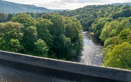 Pontcysyllte Aqueduct near Llangollen in Wales in spring royalty free stock image