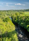 Pontcysyllte Aqueduct near Llangollen in Wales in spring stock photo