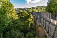Pontcysyllteaquaduct, Wales, het UK stock afbeeldingen