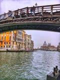 Ponte小山谷` Accademia桥梁 免版税图库摄影