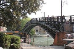 Ponte小山谷` Accademia,威尼斯,意大利 免版税库存照片