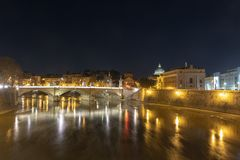 Ponte维托里奥Emanuele II -罗马,意大利 图库摄影