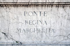 Ponte雷日纳Margherita 库存照片