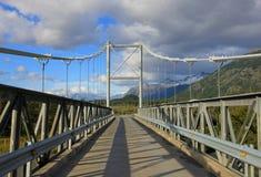 Ponte à casa de campo O Higgins, Carretera Austral, o Chile fotografia de stock
