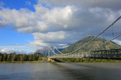 Ponte à casa de campo O Higgins, Carretera Austral, o Chile fotos de stock