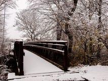 A ponte à casa do ` s da avó Imagem de Stock
