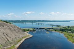 Ponte à ilha de Orleans Foto de Stock Royalty Free