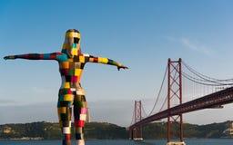 Ponte 25ème De Abril - Lisbonne Image libre de droits