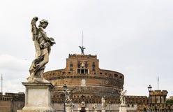 Ponte και castel Sant'Angelo, Ρώμη Στοκ εικόνα με δικαίωμα ελεύθερης χρήσης
