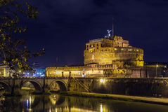 Ponte και castel Sant'Angelo, Ρώμη Στοκ Εικόνα