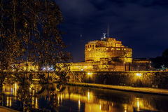Ponte και castel Sant ` Angelo, Ρώμη Στοκ φωτογραφία με δικαίωμα ελεύθερης χρήσης