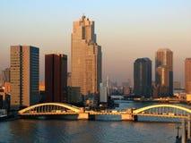 Ponte 02 de Kachidoki, Tokyo, Japão Imagens de Stock Royalty Free