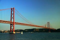 Ponte 25 DE Abril Royalty-vrije Stock Afbeeldingen