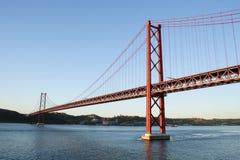 Ponte 25 de Abril Lisbona Portogallo Fotografia Stock Libera da Diritti