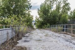 Ponte abandonada Fotografia de Stock Royalty Free