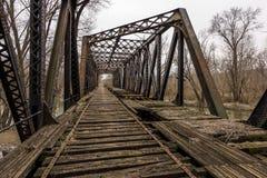Ponte abandonada da estrada de ferro - Pensilvânia fotografia de stock
