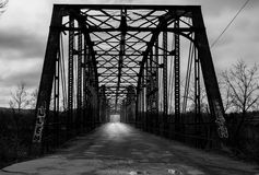Ponte abbandonato Fotografie Stock
