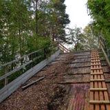 Ponte abbandonato Immagini Stock