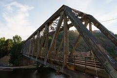 Ponte abbandonato del ferro Fotografia Stock Libera da Diritti