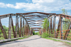 Ponte abbandonato del metallo Immagine Stock Libera da Diritti