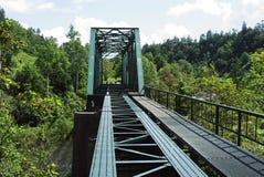 Ponte abbandonato della ferrovia Fotografia Stock