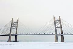 Ponte ad alta altitudine sulla strada principale ad alta velocità Fotografie Stock