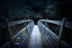 Ponte ad oscurità fotografie stock libere da diritti