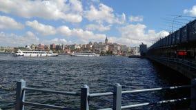 Ponte agradável do barco do céu do mar Imagem de Stock Royalty Free