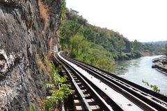 Ponte al fiume Kwai Fotografia Stock