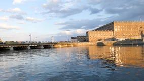 Ponte al palazzo a Stoccolma, Svezia archivi video