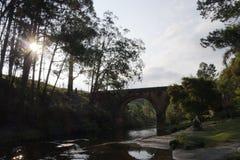 Ponte al tramonto Fotografia Stock