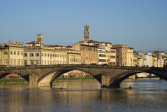 Ponte alla Carraia, Bridge on the Arno river, Florence Stock Photography