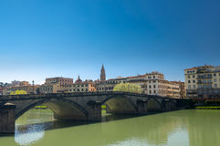 Ponte alla Carraia is a five-arched bridge spanning the River Royalty Free Stock Images