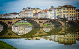 Ponte alla Carraia - Florence, Italy Stock Image