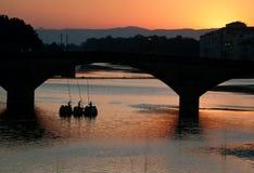 Ponte alla carraia and gondola Stock Images