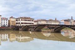 Ponte alla Carraia over Arno river in autumn Stock Photography