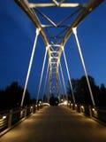 Ponte alla notte Fotografie Stock