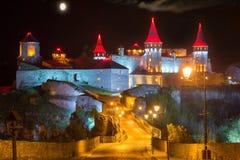 Ponte alla notte della fortezza Immagine Stock Libera da Diritti