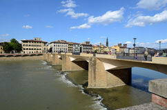 Ponte alle Grazie. Is a bridge over the Arno River in Florence, Italy Royalty Free Stock Photography