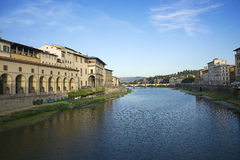 Ponte alle Grazie bridge in Florence in Italy in summer Stock Image