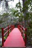 Ponte alle piantagioni storiche della magnolia, Charleston, Carolina del Sud fotografia stock
