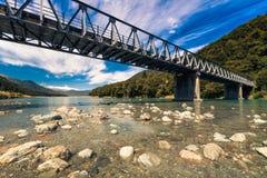 Ponte alpino in Nuova Zelanda Fotografie Stock Libere da Diritti