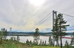Ponte alta da costa Fotografia de Stock