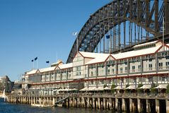 Ponte & hotel de luxo de porto de Sydney Foto de Stock